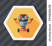 robot concept flat icon with... | Shutterstock .eps vector #394868638