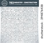 783 industry  construction ... | Shutterstock .eps vector #394876438