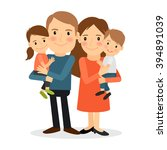 couple with children | Shutterstock . vector #394891039