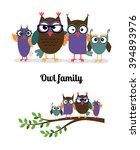 owl family | Shutterstock . vector #394893976