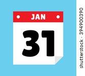 calendar icon flat january 31