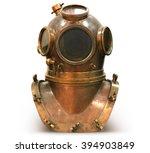 copper old vintage deep sea...   Shutterstock . vector #394903849
