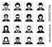 vector people icon set | Shutterstock .eps vector #394907596