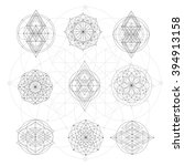 Sacred Geometry Signs. Set Of...