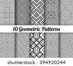 set of 10 abstract patterns.... | Shutterstock .eps vector #394920244
