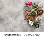 tea with mint leaves and... | Shutterstock . vector #394926700