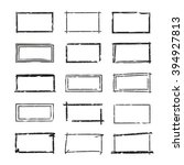 grunge frames  hand drawn... | Shutterstock .eps vector #394927813