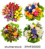 colorful flower bouquets for... | Shutterstock . vector #394930000