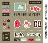 planner stickers. signs ... | Shutterstock .eps vector #394930330