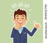 illustration of a laughing... | Shutterstock .eps vector #394932790