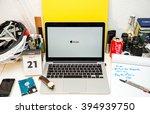 paris  france   march 21  2016  ... | Shutterstock . vector #394939750