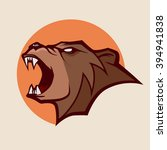 angry bear for logo  simple... | Shutterstock .eps vector #394941838
