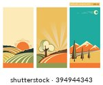 nature landscape banners with... | Shutterstock . vector #394944343