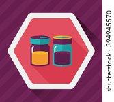 kitchenware sauce bottle flat... | Shutterstock .eps vector #394945570