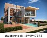 modern villa   render 2 | Shutterstock . vector #394947973