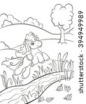 coloring pages. little cute... | Shutterstock .eps vector #394949989