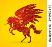 fly unicorn silhouette designed ...   Shutterstock .eps vector #394953694