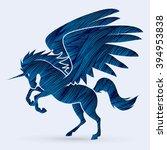 fly unicorn silhouette designed ...   Shutterstock .eps vector #394953838