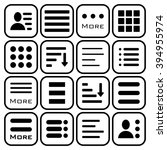 hamburger menu icons set. bar... | Shutterstock . vector #394955974