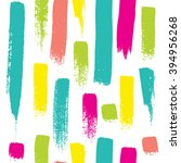 seamless pattern with brush... | Shutterstock .eps vector #394956268