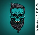 vector  illustration. skull... | Shutterstock .eps vector #394958350