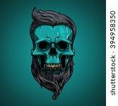 vector  illustration. skull... | Shutterstock .eps vector #394958350