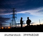 silhouette successful male... | Shutterstock . vector #394968268