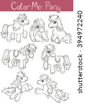 """coloring pages """"color me  pony"""".... 