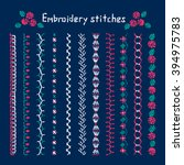 handicraft  embroidery designs  ... | Shutterstock .eps vector #394975783