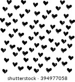 hand drawn abstract hearts. ink ... | Shutterstock .eps vector #394977058