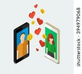 receiving or sending love... | Shutterstock .eps vector #394979068