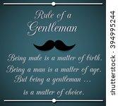 rule of a gentleman  ... | Shutterstock .eps vector #394995244