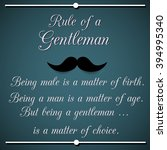 rule of a gentleman  ... | Shutterstock . vector #394995340