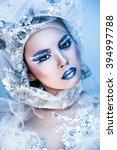 snow woman | Shutterstock . vector #394997788