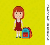 students back to school  design  | Shutterstock .eps vector #395005960