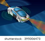 futuristic car and various... | Shutterstock .eps vector #395006473