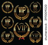 vip member badge collection | Shutterstock .eps vector #395009020