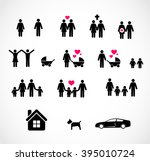 family icon set vector  | Shutterstock .eps vector #395010724