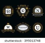 monogram design elements... | Shutterstock .eps vector #395013748