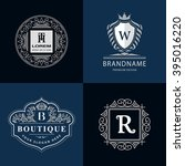 monogram design elements... | Shutterstock .eps vector #395016220