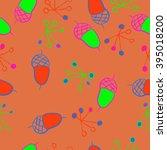 seamless pattern of autumn...   Shutterstock . vector #395018200