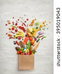 healthy food in package. studio ... | Shutterstock . vector #395019043