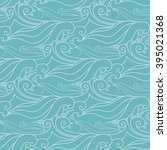 sea waves. seamless vector... | Shutterstock .eps vector #395021368