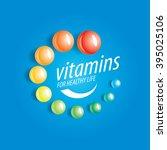 vector logo vitamins | Shutterstock .eps vector #395025106