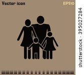 happy family icon in simple... | Shutterstock .eps vector #395027284