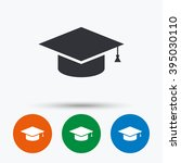 graduation cap icon. higher... | Shutterstock .eps vector #395030110