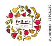 vector set of fruit | Shutterstock .eps vector #395031250
