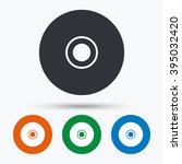 Disc Icon. Disc Flat Symbol....