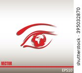 eye icon. look at the world... | Shutterstock .eps vector #395032870