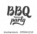 vintage bbq party typographic... | Shutterstock .eps vector #395041210